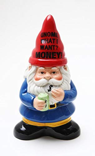 Garden Gnome Money Coin Bank Save Children Piggy Bank Ceramic Money