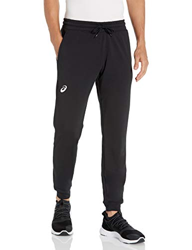 ASICS French Terry Pantaloni da Jogging da Uomo, Uomo, Pantaloni da Tuta, 2031A613, Squadra Nera, XS