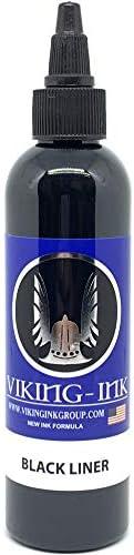 VIKING INK Tattoo Ink BLACK LINER 4oz 120ml The best colors and blacks Vegan product image