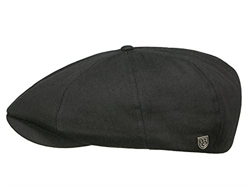 Brixton Brood Newsboy - Casquette - Noir et motif à chevrons - en sergé - Noir - X-Large/61-62