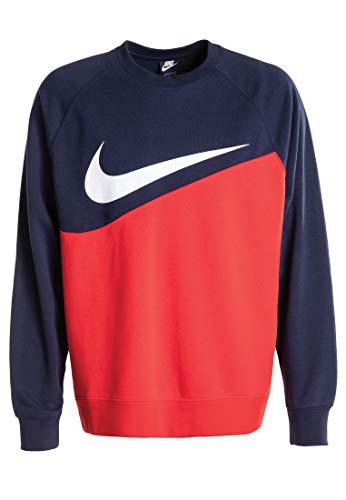 NIKE Sportswear Sudadera, Hombre, University Red/Obsidian/White, M