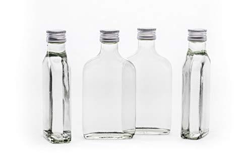 slkfactory Lot de 20bouteilles vides, en verre, 100ml, avec bouchon à vis, à remplir soi-même, 0,1l, idéales pour le vinaigre, l'huile et les liqueurs