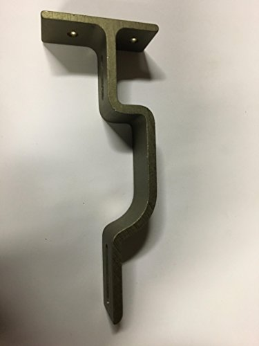 Double support bracket for decorative traverse rod