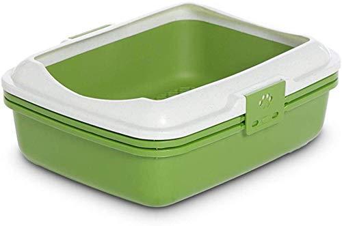 gengxinxin Katzentoilette Katzentoilette Mit Katzentoilette Smart Style Katzentoilette Katzenklo Matte Katzenstreu Hygienebehälter (Farbe: Grün Größe: L 58 × 42 × 44 cm)-m 50 × 40 × 38 cm_blau