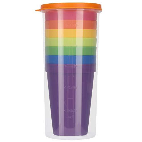 Oumefar Vasos de Agua Resistentes a roturas 7PCS Vaso para Beber Apto para lavavajillas para Jugo para Restaurante