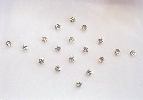 Lot de 32 faux piercings de nez autocollants en argent 1 mm