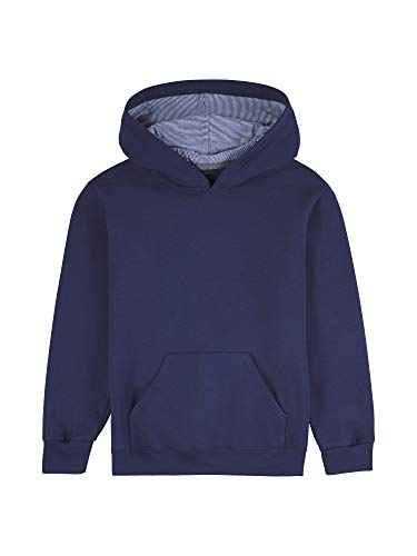 Fruit of the Loom Explorer - Sudadera con Capucha (Forro Polar), Ghost Navy/Times Square Navy Stripe, Large