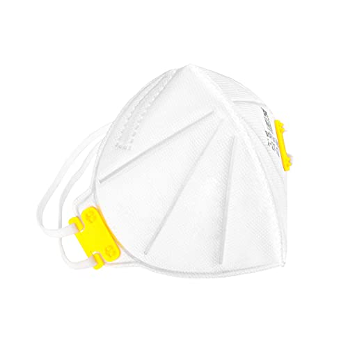 3PE N95 Respirator 5-Ply White Masks Protection Against PM2.5 Particles, NIOSH Approved(TC-84A-9278), Filter Efficiency≥95%, Made in U.S.A., 5 Pack