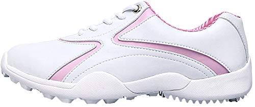 Zapatos de Golf de Las Mujeres al Aire Libre Impermeable y Transpirable Antideslizante Zapatos de Golf Zapatillas Deportivas para Mujeres