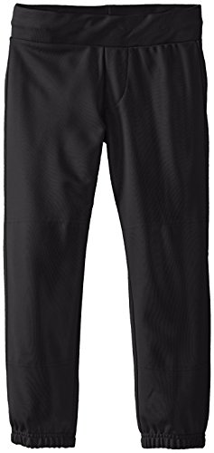 EASTON ZONE Softball Pant | Girl's | Large| Black | 2020 |Low-Rise Waistband With Draw Cord, Set-In Back Pockets