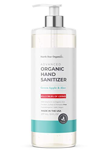 Organic Hand Sanitizer Made in USA, Safe for Babies Infant...