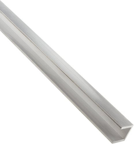 6063 Aluminum U-Channel, Unpolished (Mill) Finish, Extruded, T52 Temper, AMS QQ-A-200/9/ASTM B221, Equal Leg Length, Squared Corners, 2' Base Width, 0.125' Wall Thickness, 72' Length,Legs length: 2  inches
