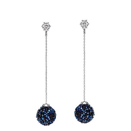 Damen Ohrringe Kronleuchter Blau Tschechische Strass Ohrringe Kugel Baumeln Ohrringe Lange Ohrringe für Frauen 2018 Neue Marke Geschenk