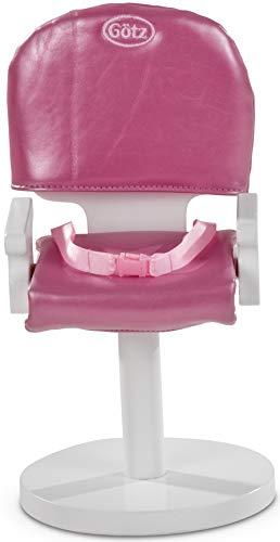 Götz 3402275 Poltrona da parrucchiere New York - poltrona da acconciatura e trucco per bambole in piedi alte da 27 a 50 cm - adatta per bambini dai 3 anni in su