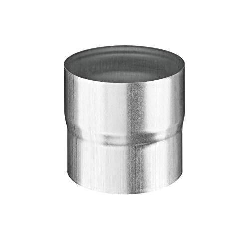 dachrinnen-shop.de 62745 Steckmuffe-Rohrverbinder DN100 rund Fallrohrverbinder für Titanzink Rohre ohne werksseitige Muffe nach DIN EN612, Silber