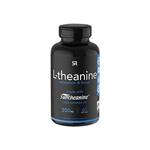 Sports Research Suntheanine® L-Théanine 200 Mg (Double Résistance) En Première Pression À Froid...