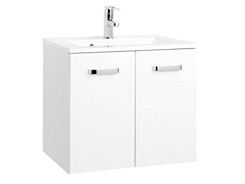 möbelando Waschtisch Badmöbel Badezimmermöbel Waschbecken Waschplatz Bad Bologna II (60 cm)