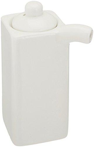 JapanBargain, White Porcelain Vinegar Oil Soy Sauce Dispenser Jar , 3.5 ounce