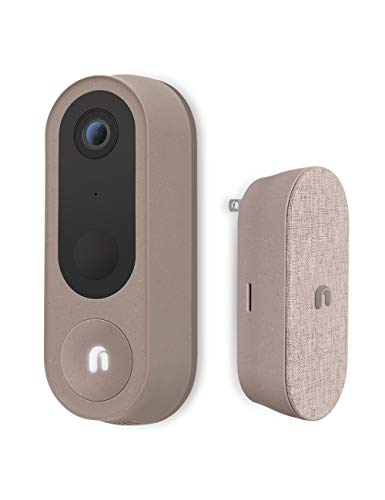 Nooie Security Wireless Video Doorbell Camera with 2K Resolution, 10000 mAh Battery Included, Human Detection, Dual Band 2.4/5Ghz, 2-Way Audio, Free Wireless Chime, Built-in Siren, Easy Installation