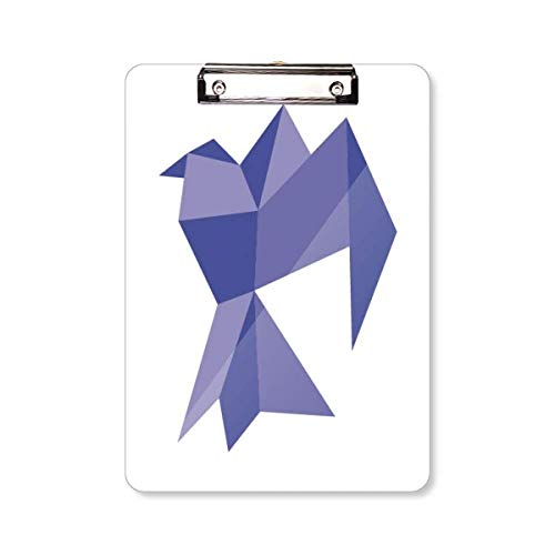 Paarse Origami Abstract Duif Patroon Klembord Folder Schrijven Pad Backing Plaat A4