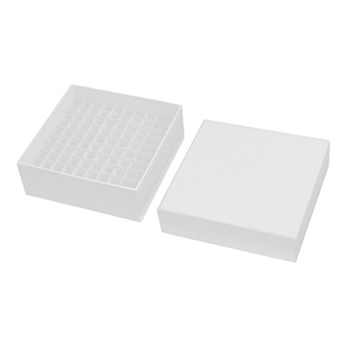 100 Positionen Graduate Cryo Vial Paper Box 1,8 Milliliter Weiß