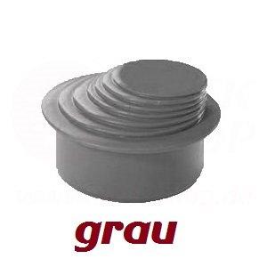 HT KG Rohr Reduzierverbinder Mehrstufig Ø 63-100 mm grau Reduktion Ø 110 DN 100 Reduzierstück Übergang Rinnenfallrohr Minderer