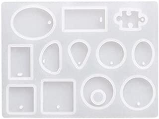TOOGOO 12 Disenos Cabochon Molde de Silicona Collar Colgante de Joyeria de Resina Que Hace el Molde DIY Artesania A Mano