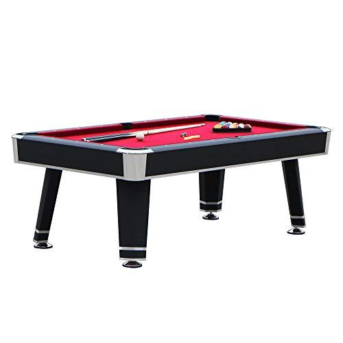 """Hathaway Jupiter 7' Pool Table, 84"""" L x 48"""" W x 31"""" H, Black"""