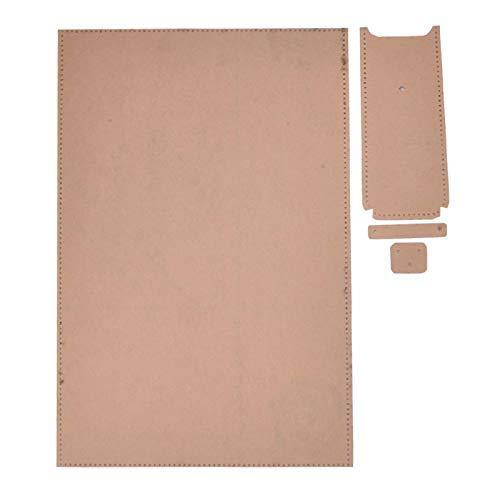 Leder Bastelwerkzeug Klare Acrylherstellung Schablone, für DIY Leder Bastel Acryl Brieftasche Vorlage