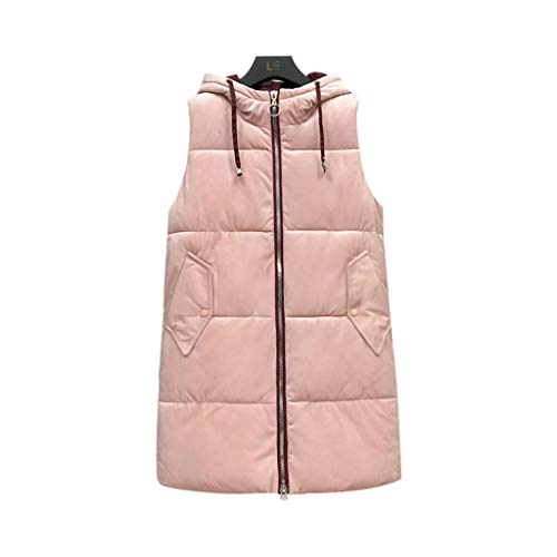 No brandvest voor dames, warme winterjas met 2-weg capuchon Fluffy Vest Outwear