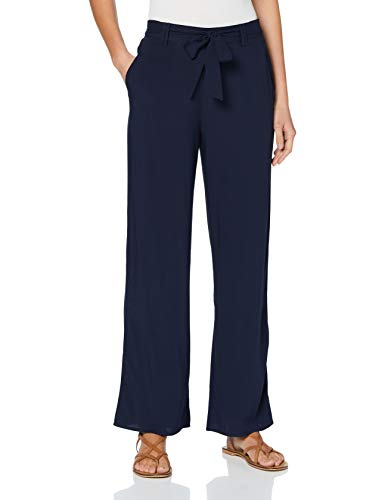 ONLY Damen Onlnova Life Palazzo Pant SOLID WVN 5 Hose, Night Sky, 38