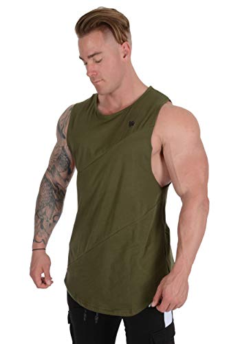 YoungLA Long Tank Tops Men Muscle Shirt Gym Training 306 OLV L Olive