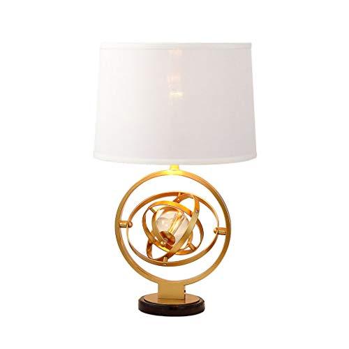 Lámpara de hierro de mármol nórdico moderno lámpara de escritorio de cristal giratorio creativo, lámpara de escritorio de la sala de estar del hogar con lámpara de cabecera del dormitorio(60x36cm)