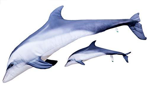 Gaby DER GROßE TÜMMLER Blaue Delphin Kuscheltier Stofftier (125cm)