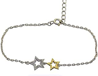 Parejo Silver Bracelet Star Shaped for Women