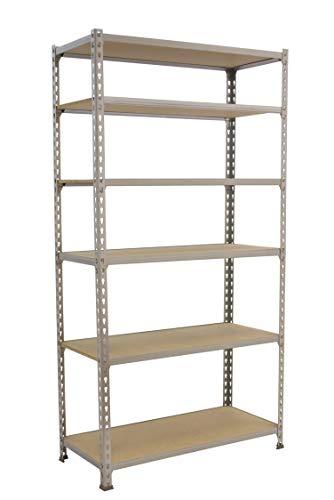 Estantería metálica sin tornillos Maderclick de 6 estantes