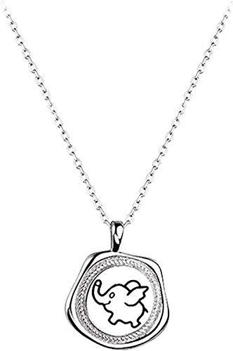 WYDSFWL Collar Bebé Elefante Medalla Collar Colgante Mujeres Regalos