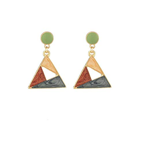 Yhhzw Pendientes Triangulares Para Mujer, Pendiente Geométrico Colorido, Joyería De Oreja Para Fiesta De Boda