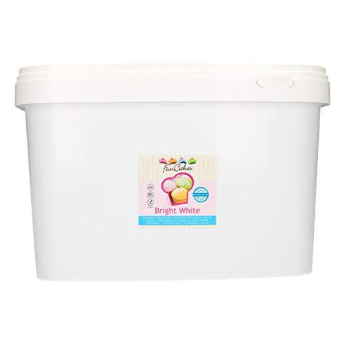 FunCakes Fondant Blanco Brillante: Fácil de Usar, Suave, Flexible, Suave y Flexible, Perfecto para Decorar Pasteles, Halal, Kosher y Libre de Gluten. 10 kg 10000 gr