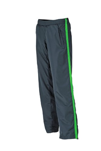 JAMES & NICHOLSON Laufhosen Ladies Sports Pants Pantalon de Maternité, Vert (Iron Grey/Green), (Taille Fabricant: X-Large) Femme