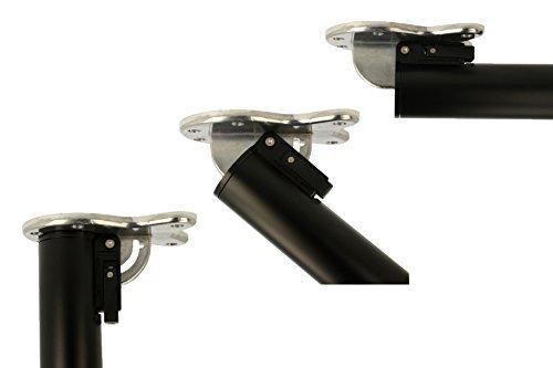 MS Beschläge® abklappbares Tischbein Möbelfuss Tischfuss ø 50mm aus Metall Höhe 870mm (Schwarz)