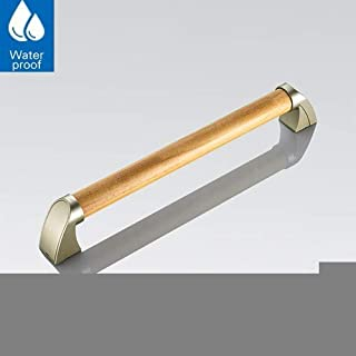 2019 New Wood Grab Rails for Bathroom, Handles Waterproof Non-Slip, Grab Bars Anti-Corrosion Safety Support, for Disabled and Elderly in Toilet Wc(Gifting Screws)