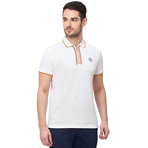Being Human Half Sleeves Cotton Regular Fit Mens T-Shirt (S21BHP21042WH004, White, Large)