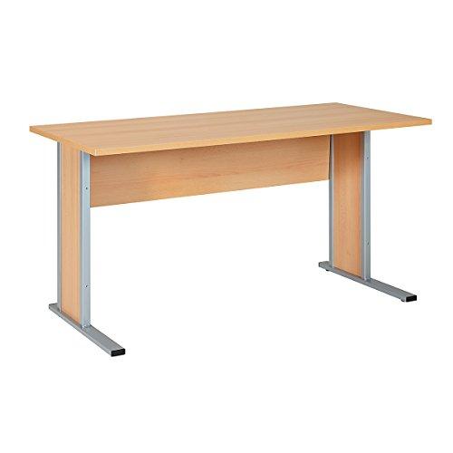 Schomburg Schreibtisch SERIE 4000   HxBxT 710 x 1400 x 650 mm  Buche   Arbeitstisch Computertisch...