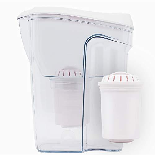 Philips Aqua Solutions Wasserfilter-Karaffe gegen Kalk, Blei, Chlor, Pestizide, Mikro-Plastik, Wasser-Filter mit Aktivkohle, Mikrofiltration, AWP2918