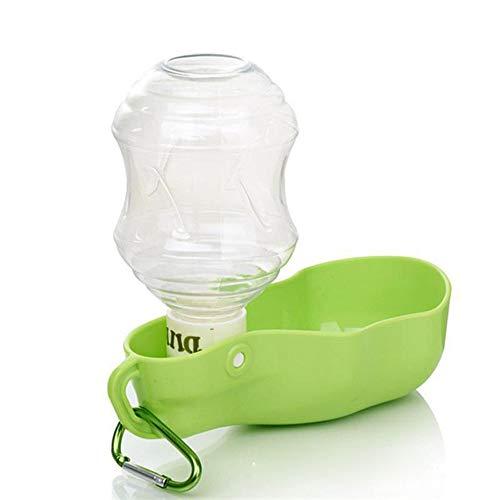 Anyi Pet Tragbare Kettle-Dog Trinkwasser Teddy Hund Bewegliches Wasser Cup-Außen Wasser Feeder Pet Reisen Cup,Grün