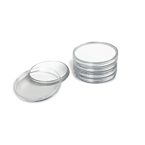 50 PCS Round Clear Plastic Coin Holders Collectors Storage Capsules 25-40mm Adjustable Inner Diameter