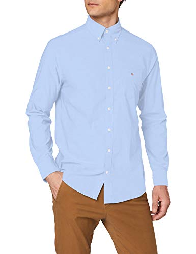 GANT The Broadcloth Reg BD Camiseta Deporte, Azul (Hamptons Blue), Medium para Hombre