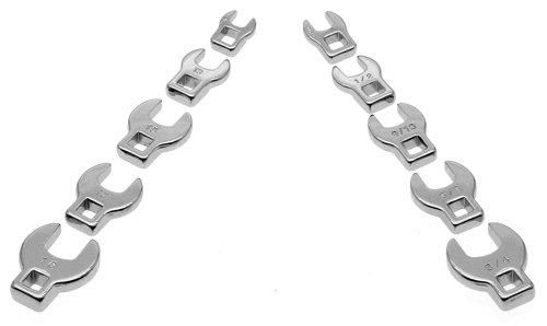 Alltrade 640830 3/8' Dr. Crowfoot Wrench Set, 10 Piece