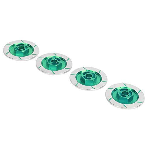 DAUERHAFT Disco de Freno antidesgaste Pastilla de Freno Ligera de aleación de Aluminio RC Resistente con Ruedas de Metal(Green)
